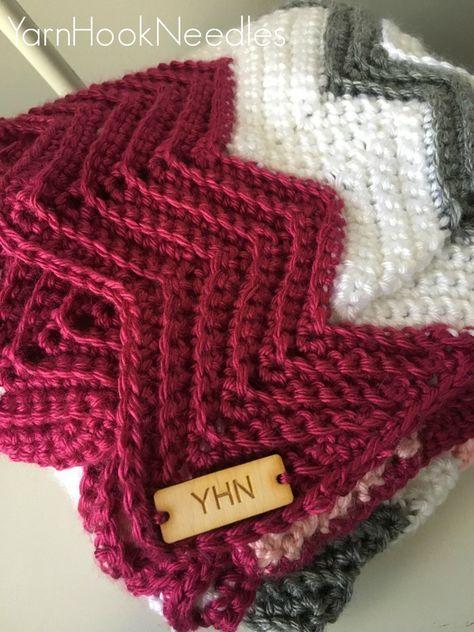 Modern Crochet Chevron Blanket with FREE Pattern | Pinterest