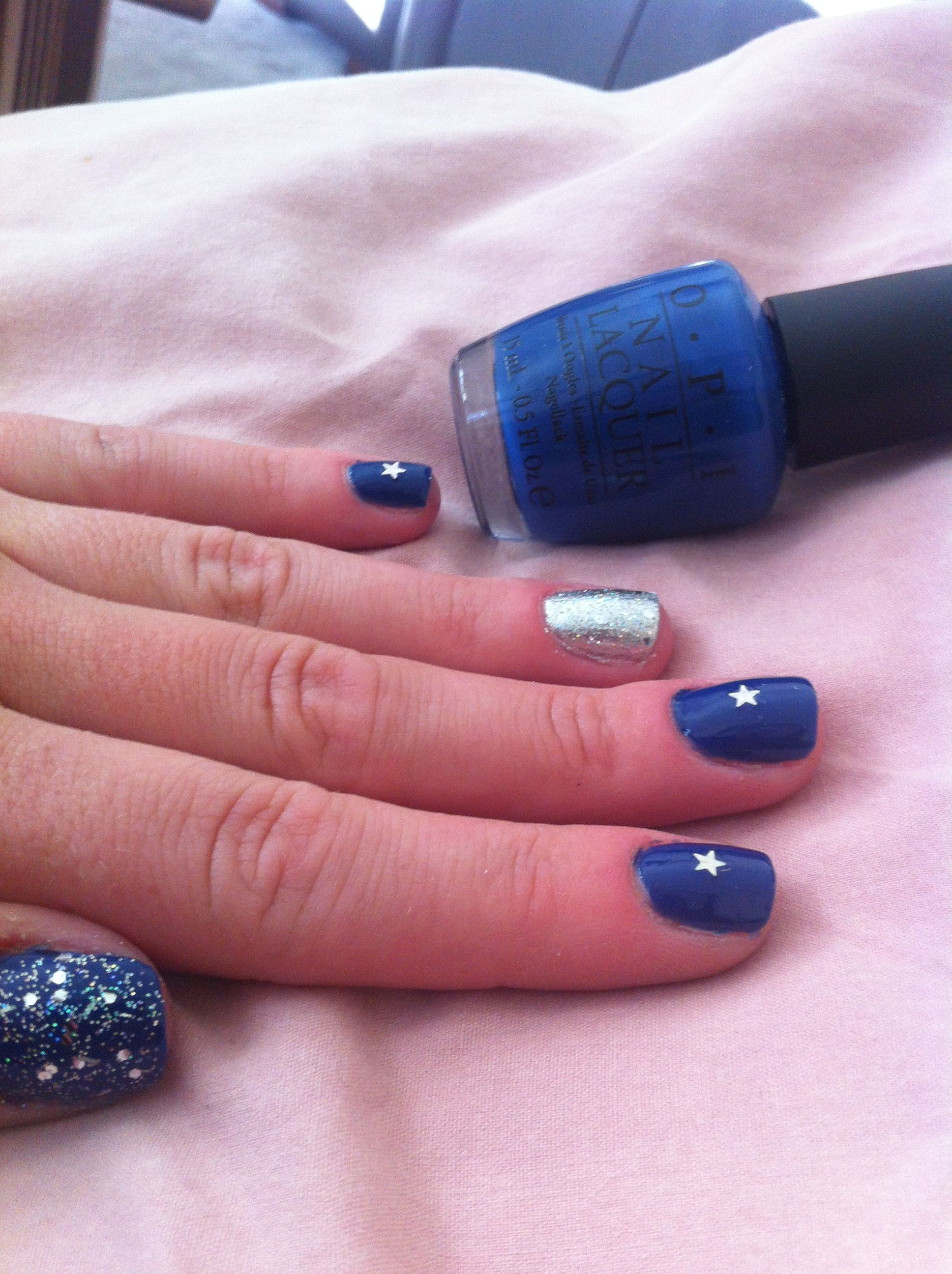 Dallas Cowboys Nail Art OPI I\'m Dating a Royal. #CowboysNation ...