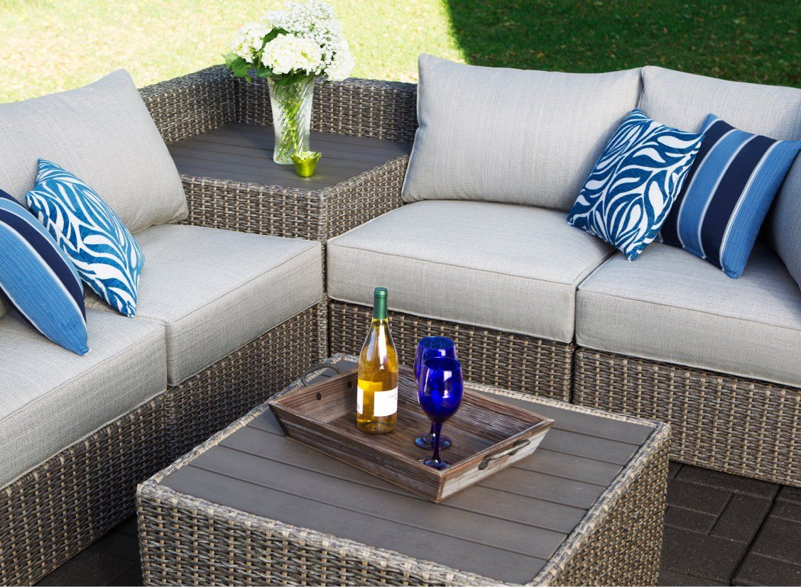 Create The Perfect Backyard Ambiance With The 5 Piece Bayshore Collection Whether You Have Outdoor Sectional Sofa Patio Furniture Sets Outdoor Patio Furniture