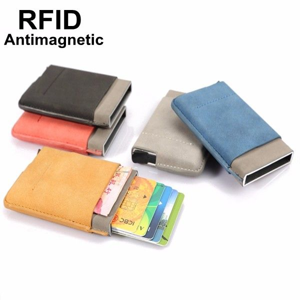 18c4496c9a7e4 Sale 17% (10.99 ) - Automatic RFID Business Card Holder Credit Card Case