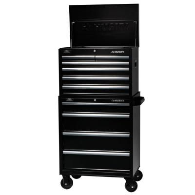 Husky 27 In W 10 Drawer Tool Chest And Cabinet Set H6ch3 H4tr1 At The Home Depot 248 Tool Box Cabinet Tool Chest Tool Box