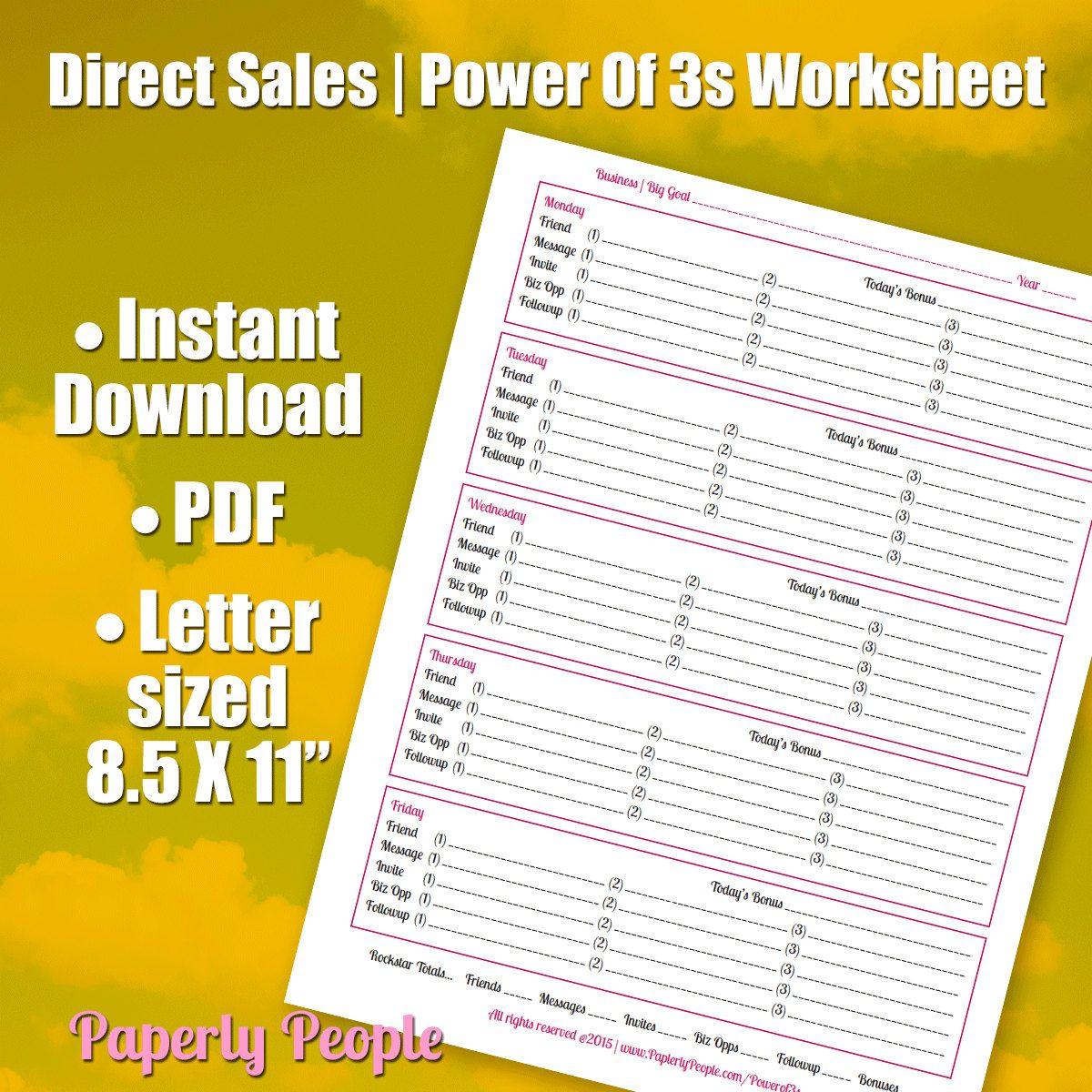 Direct Sales Worksheet
