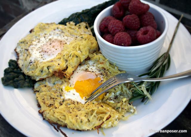 Rosemary Spaghetti Squash Egg Nests (GAPS, Paleo)