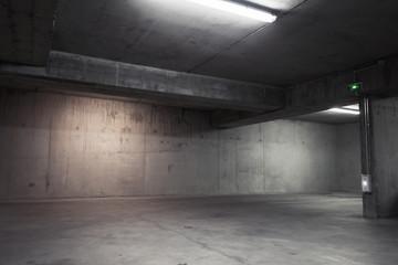 Abstract Empty Garage Interior Background Photo Wallpaper