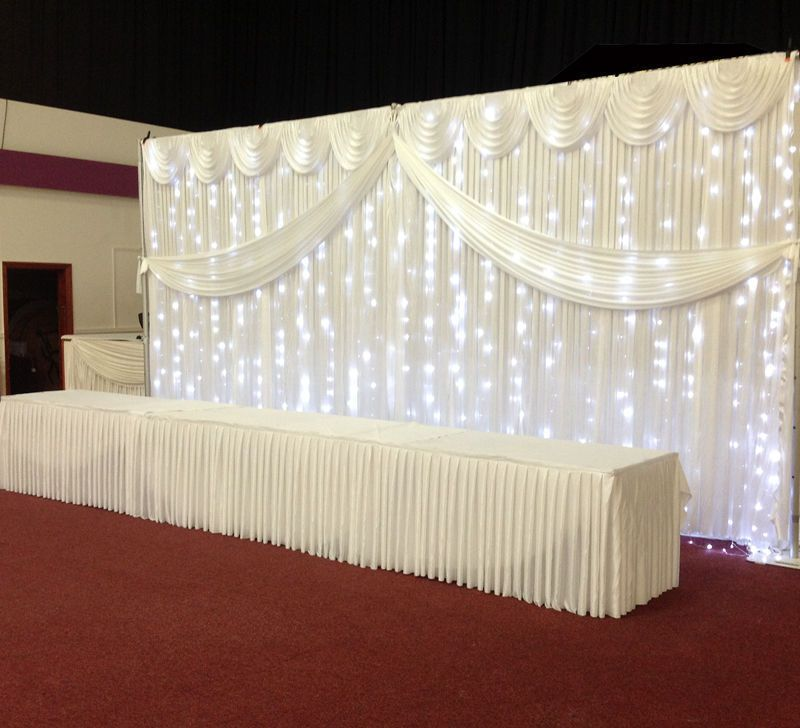 Fairy Light Economy Wedding Backdrop Package With Stands