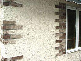 Stucco With Exposed Stone Corners California Stucco Wall