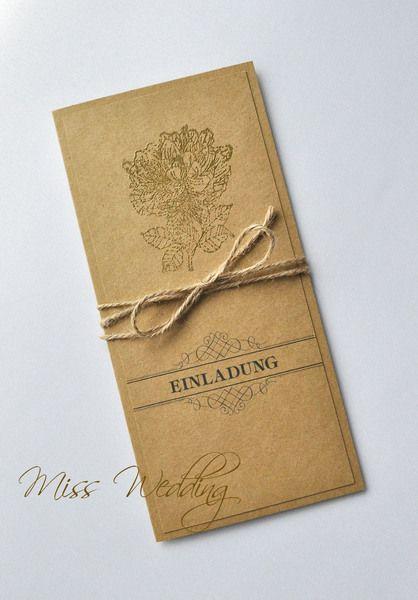 Einladungskarten   Einladungskarte Hochzeit Geburtstag   Ein Designerstück  Von MissWedding Bei DaWanda