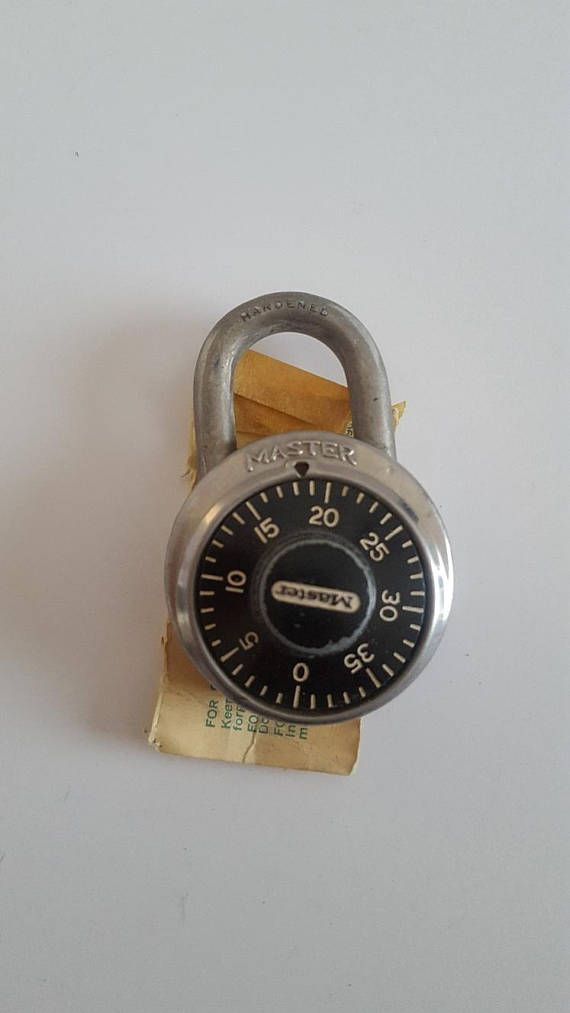 a07253329074 Vintage 1960's working Master Lock combination padlock, original ...