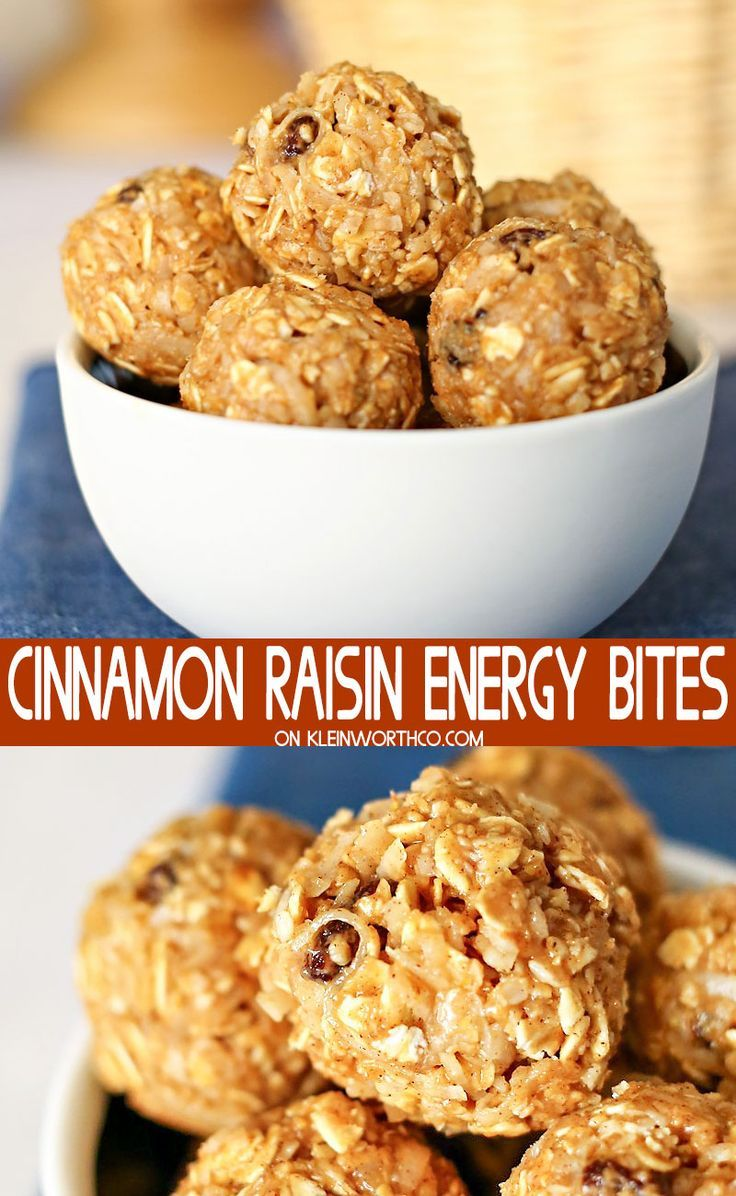 Cinnamon Raisin Energy Bites - Kleinworth & Co