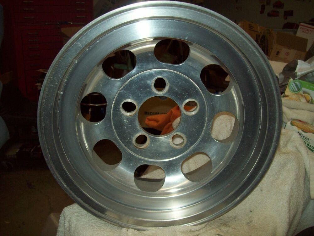 Cragar mach 8 wheel 15x6 unilug 5 lug 0 curb rash cragar