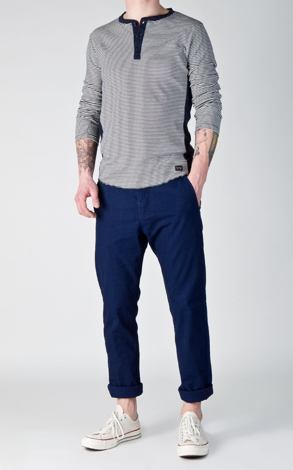 Edwin 55 Chino Slubby Canvas Indigo 9oz   Cultizm s Brand of the ... 9df9546fc1