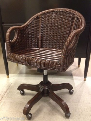 Magnificent Pottery Barn Wingate Rattan Swivel Desk Chair Espresso New Caraccident5 Cool Chair Designs And Ideas Caraccident5Info