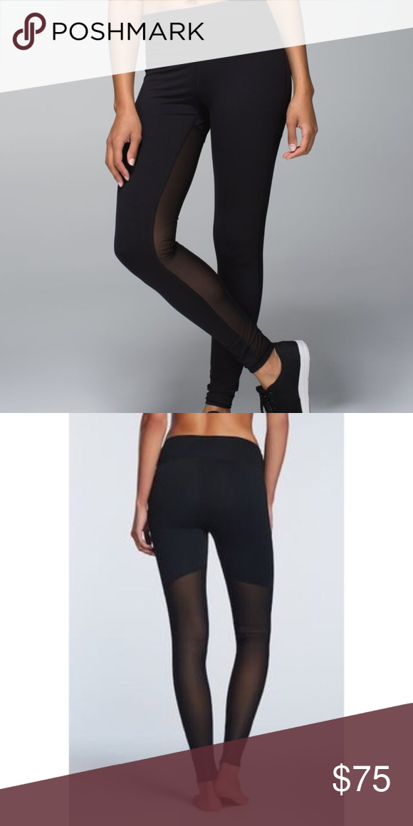 1a86eabb647377 Lululemon mesh back legging tights Like new, no piling or signs of wear lululemon  athletica Pants Leggings