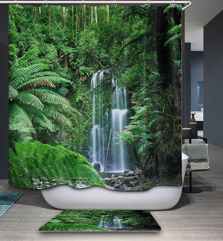 Tropical Australia Rainforest Shower Curtain Rainforest Shower Tropical Shower Curtains Window In Shower