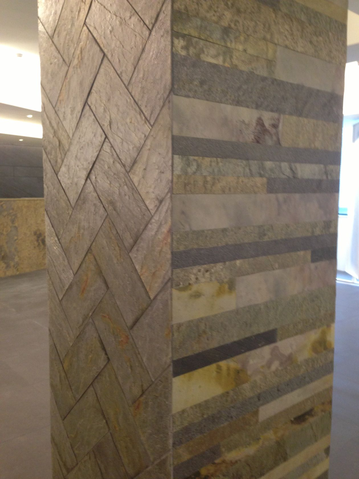 Stone marble granite exterior wall cladding view cladding wall - Slate Veneer Tile Sheet Wall Colu N Cladding Mixed Tile Pattern Stone Veneertile Patternsslatetilesmarblescommercial