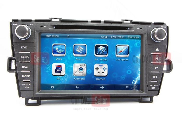 In Dash Car Dvd Player For Toyota Prius Right Driving With Gps