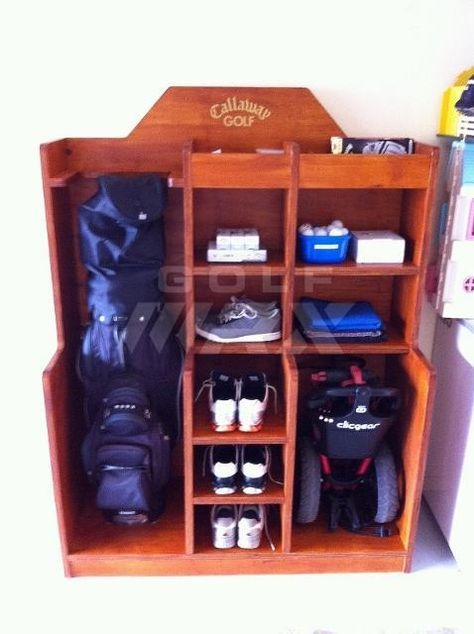 Charmant Golf Storage Unit   Pictures And Plans | Golf | Pinterest | Golf, Golf Bags  And Golf Tips