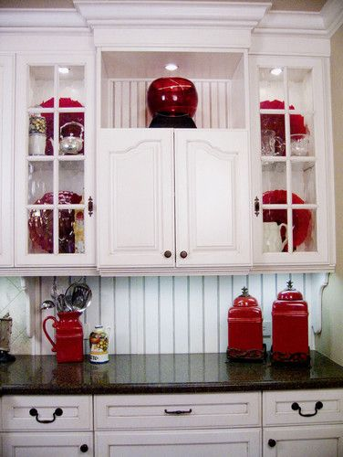 Exceptional Affordable Cabinet Makeover Ideas. Red Kitchen ... Awesome Design
