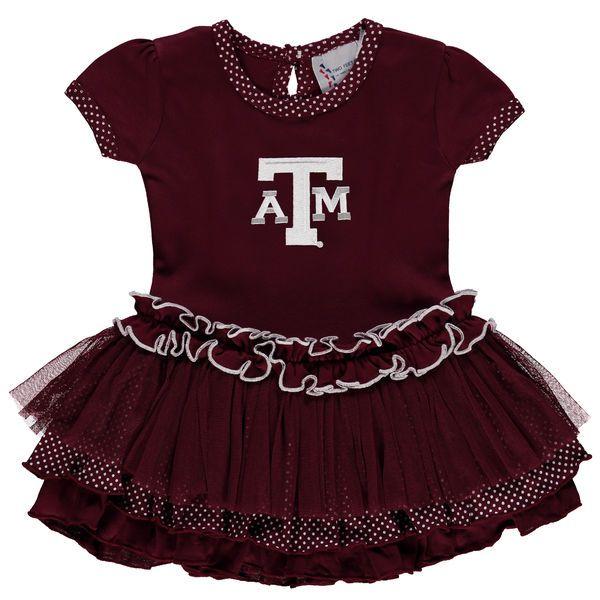 17ac2d318 Texas A M Aggies Girl s Toddler Pin Dot Tutu Dress - Maroon -  39.99 ...