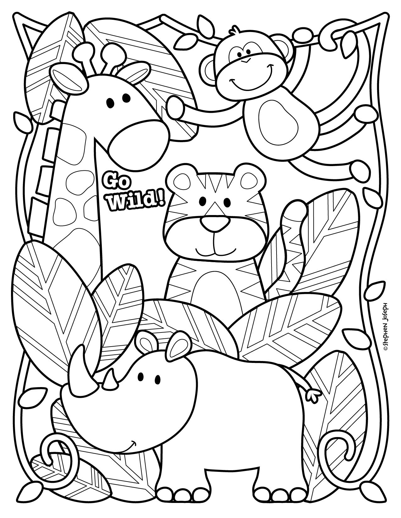 Zoo Coloring Page Printable Free By Stephen Joseph Gifts