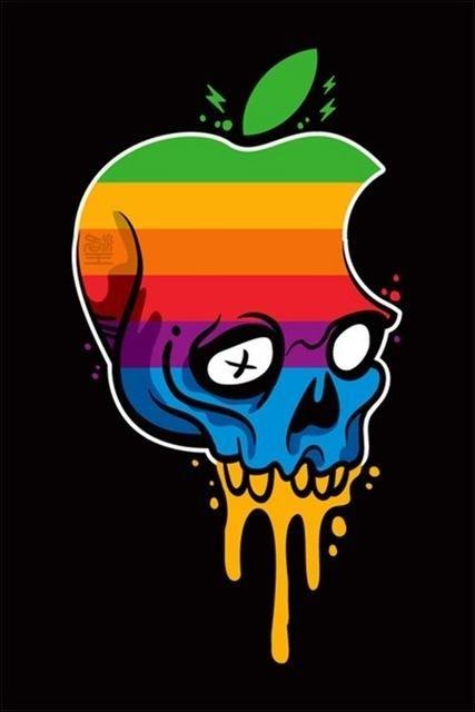 Logo Apple Teschio Arcobaleno Loghi Marche Simboli