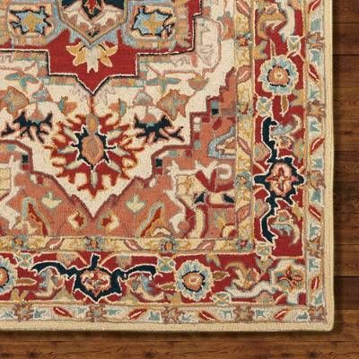 Phoenix Hand Hooked Wool Area Rug With