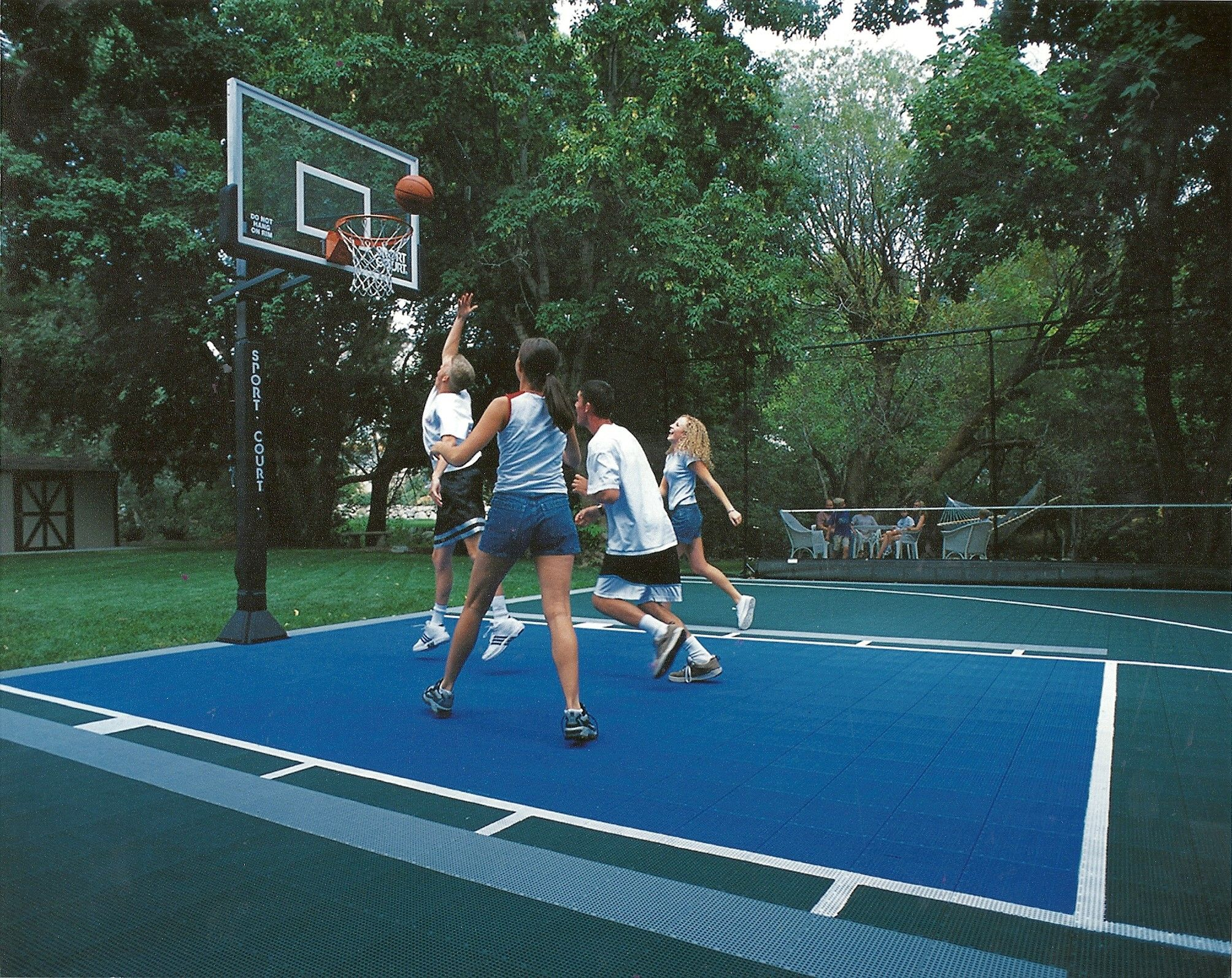 If you build it, they will play! Basketball court