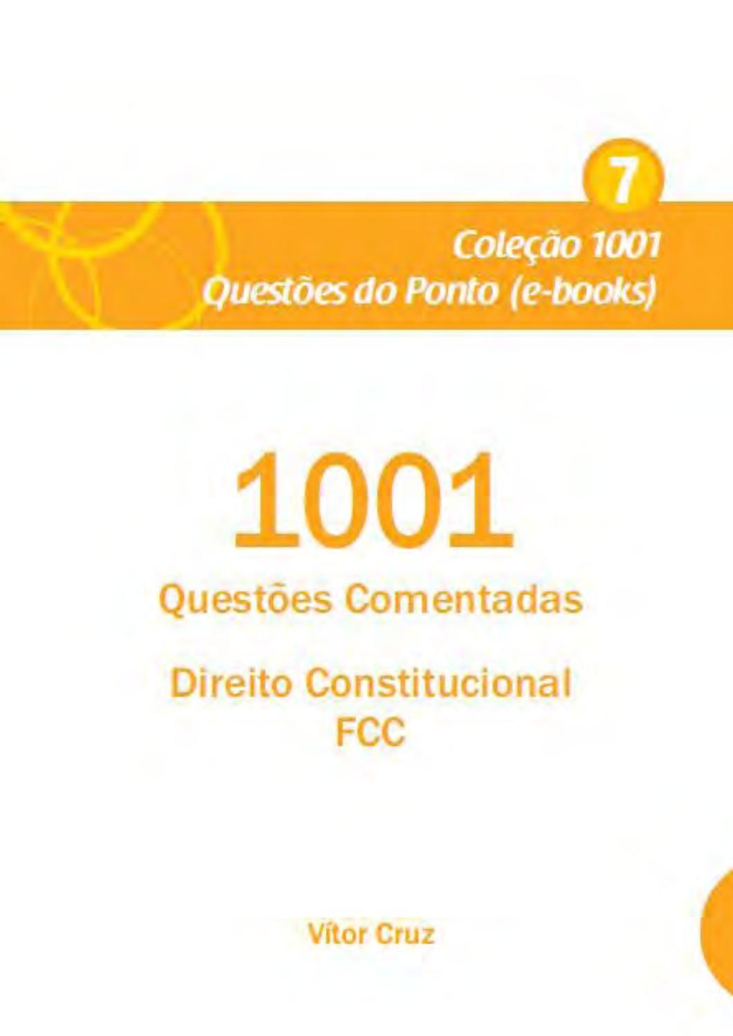 1001 Questoes Comentadas Direito Constitucional Fcc Questoes De