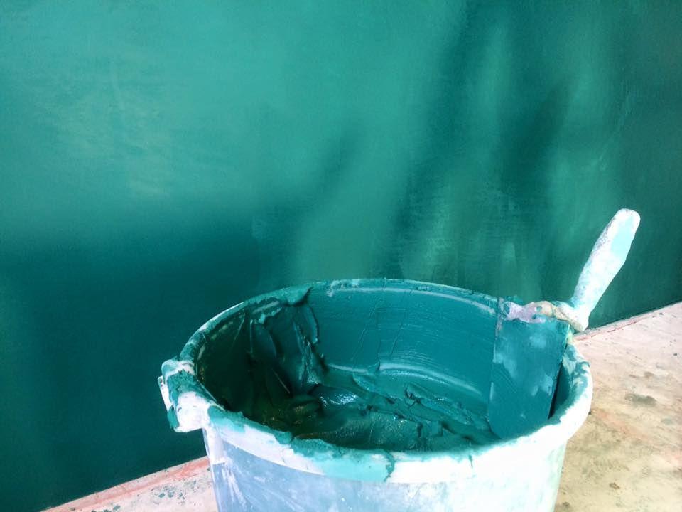 Eigen kleur waterdicht stucwerk in badkamer. | Badkamer | Pinterest