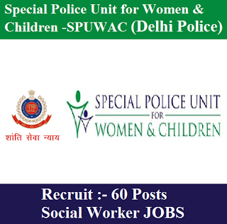 SPUWAC Recruitment 2017 | 60 Posts | Social Worker Jobs | Sarkari Naukri
