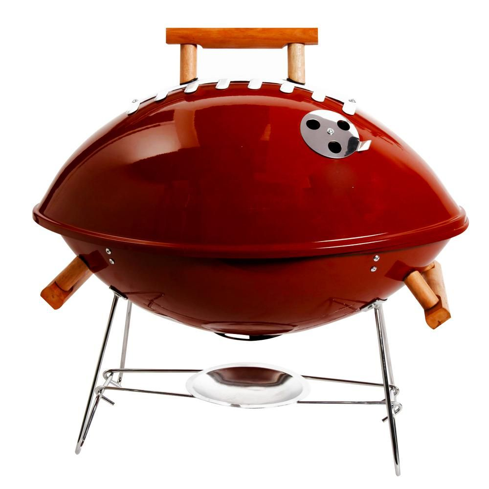 Gibson Home Football Portable Charcoal Grill In Brown In 2020 Portable Charcoal Grill Charcoal Grill Gibson Home