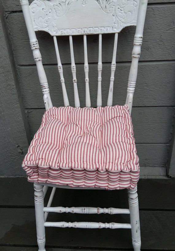 Farmhouse Chair Cushion Etsy Farmhouse Chairs Chair Cushions Diy Chair Cushions