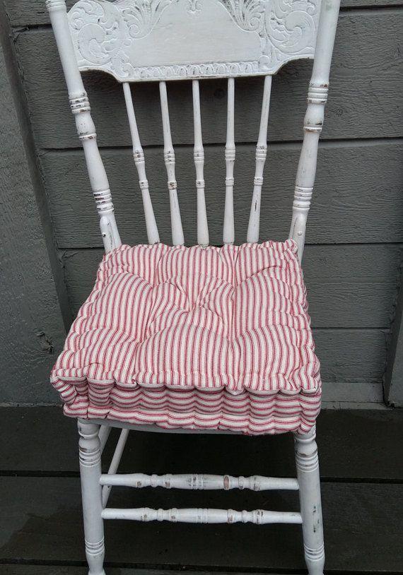 Farmhouse Chair Cushion, French Mattress Cushions, Farmhouse Cushions, Chair  Pads