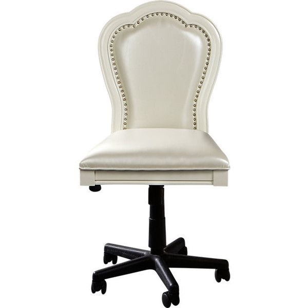 Sofia Vergara Kayla White Desk Chair Liked On Polyvore Featuring Home Furniture Chairs O White Desk Chair Luxury Office Chairs Oversized Chair Living Room