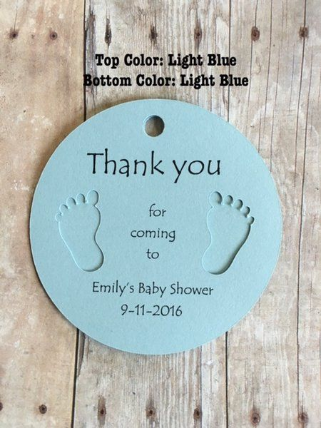 Round Gift Tags with Baby Feet ~ Thank you for coming ~ Baby Shower Thank You Gift ~ 10 Tags