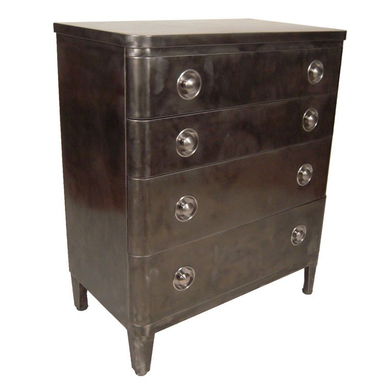 vtg 1940 50s simmons furniture metal medical. Simmons Metal Furniture. Gun Grey Enameled 4-drawer Chest - 1930\\u0027s Vtg 1940 50s Furniture Medical