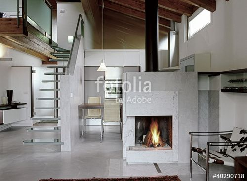 Soggiorno Camino ~ Casale a ostra vetere vista della zona soggiorno con grande