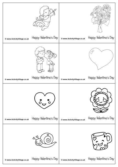 mini valentine colouring cards children s activities pinterest