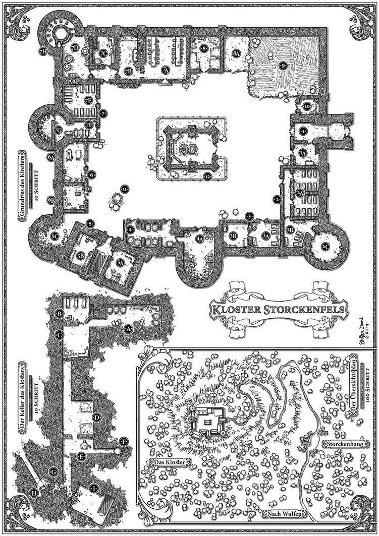 Seelenernte plan von storckenfels by steffenbrand on for Floor 2 dungeon map