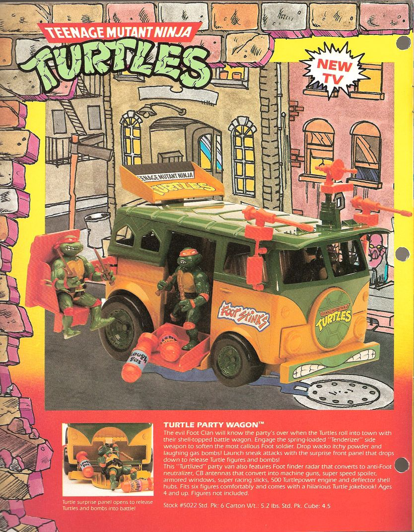 .TMNT Party Wagon