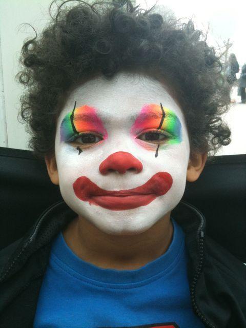 Neon Clown Face Painting Easy Clown Face Paint Kids Face Paint