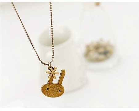 Cute Bunny Necklace Edit  $12.00 i love bunnies right behind owls
