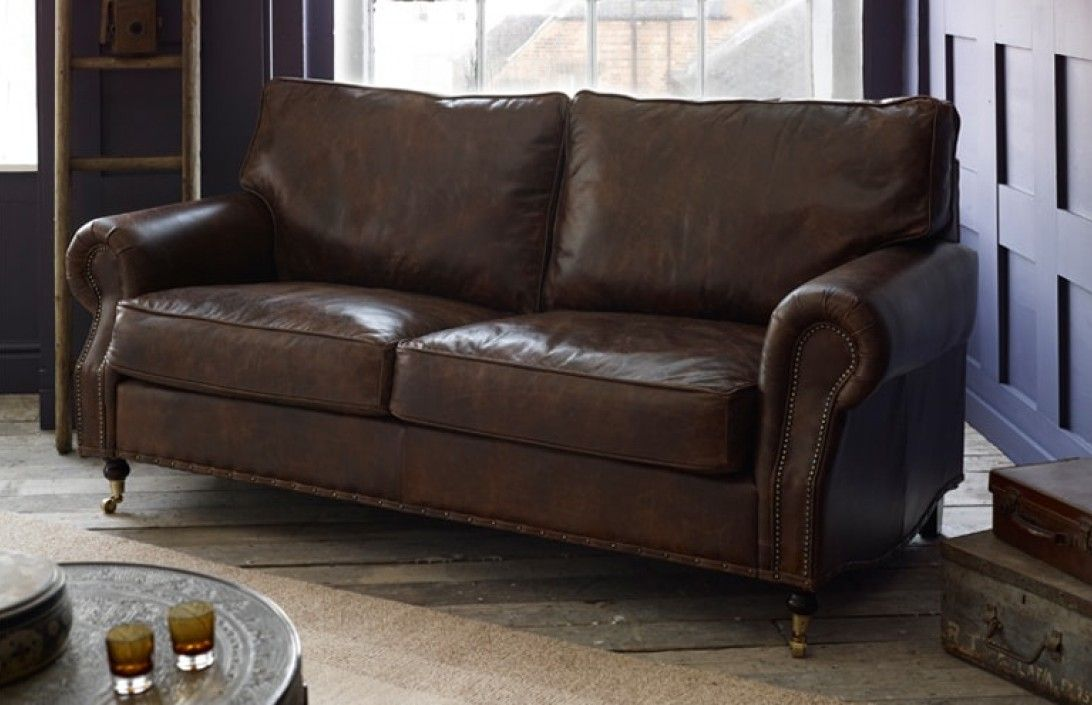 Slipcovers For Sofas Our Arlington studded leather sofas are made to order in our Manchester factory