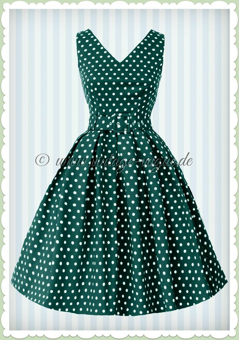 dolly & dotty 50er jahre retro punkte petticoat kleid