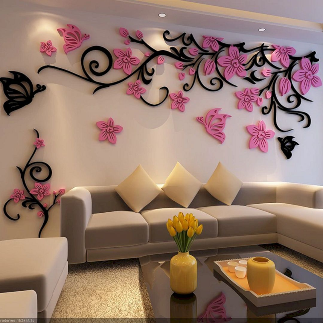 15 Beautiful Rose Wall Painting Design For Home Decoration I