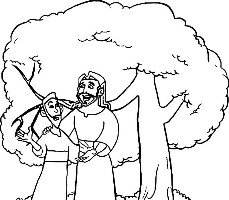 Zacchaeus Talking Jesus Coloring Page Jesus Coloring Pages Coloring Pages Tree Coloring Page