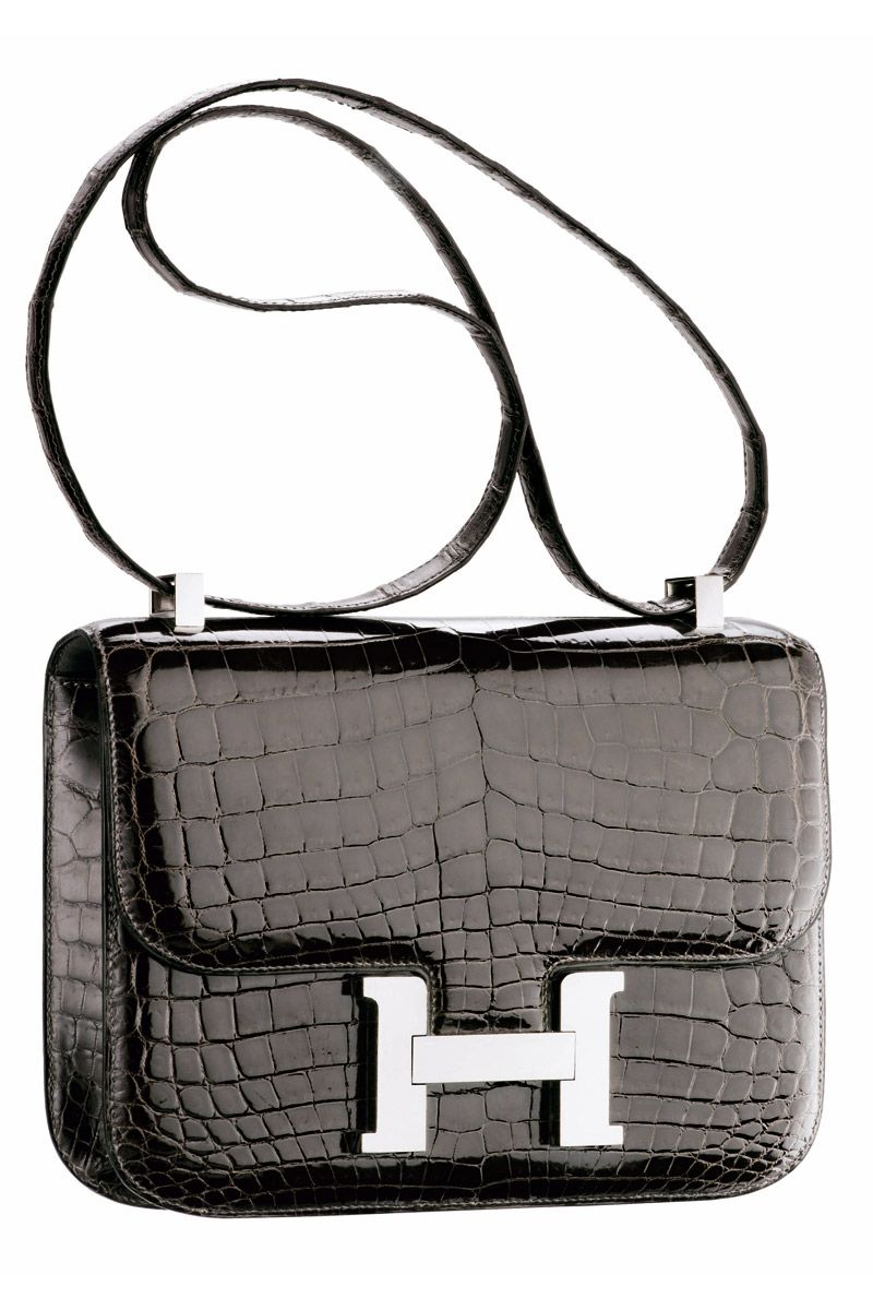 ef2ed2885e0b Black Crocodile Hermès Constance bag MC