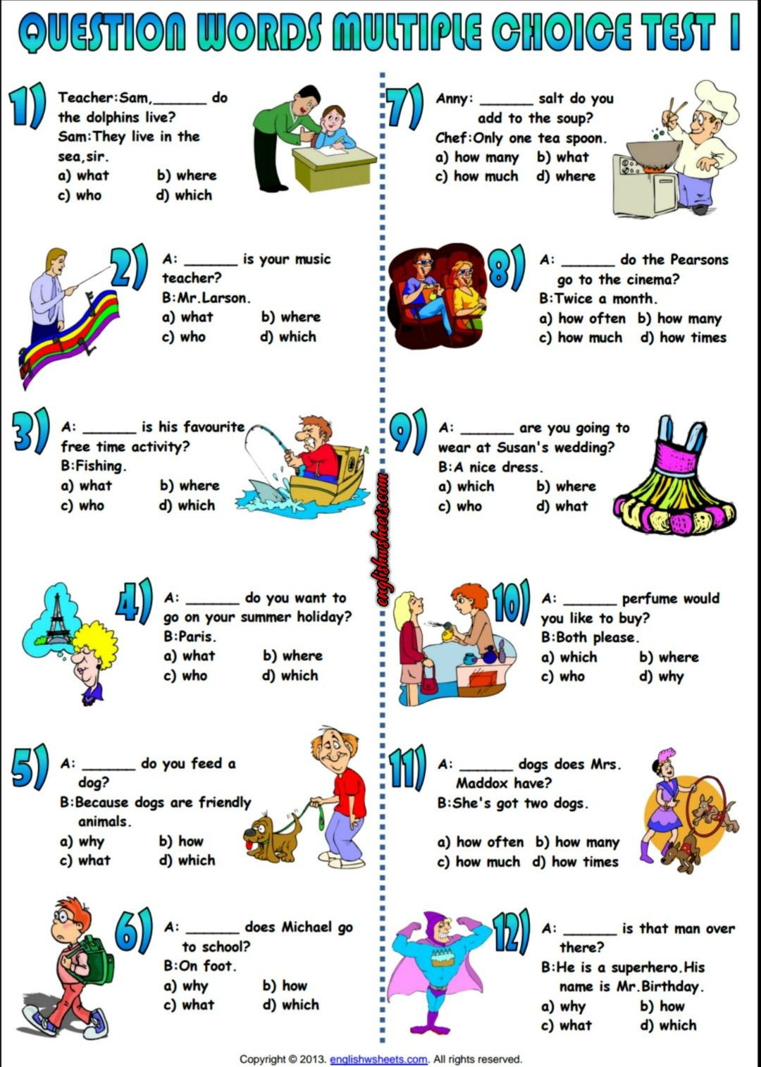Feudalism Worksheet Pdf Question Words Multiple Choice Test Esl Worksheet  Esl Printable  Your You Re There Their They Re Worksheet Word with Interactive Worksheets For Kindergarten Pdf Question Words Multiple Choice Test Esl Worksheet Practice Worksheet For Significant Figures Excel