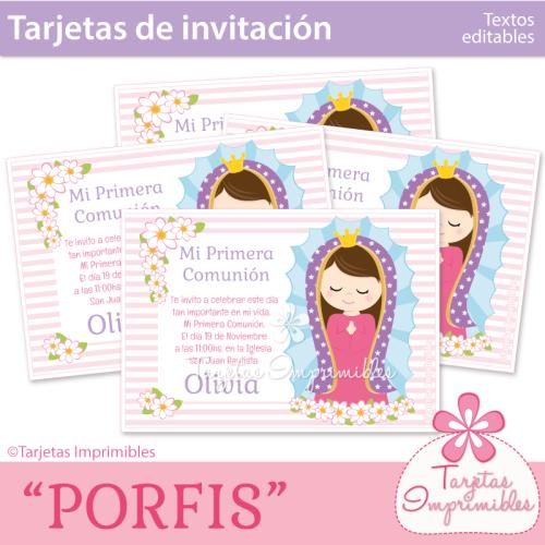 porfis-tarjetas-imprimibles | Primera comunión | Pinterest