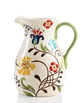Vida by Espana Dinnerware Jardine Pitcher - Macy\u0027s  sc 1 st  Pinterest & I received a platter from this line as a birthday gift - LOVE it ...